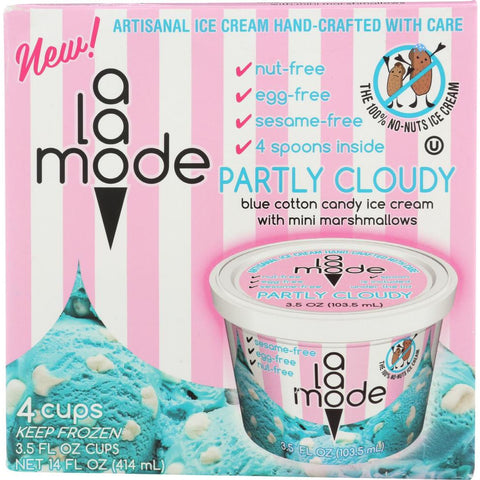 A LA MODE: Ice Cream Cups Partly Cloudy 4 Cups, 14 oz