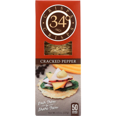 34 Degrees: Cracked Pepper Crisps, 4.5 oz