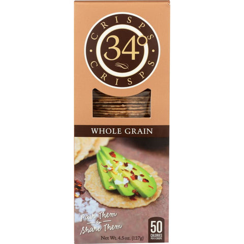 34 Degrees: Whole Grain Crisps, 4.5 oz