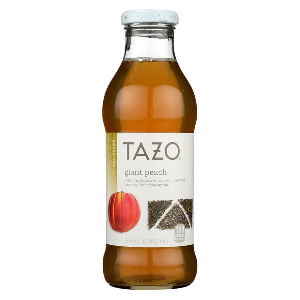 Tazo Tea Iced Green Tea - Giant Peach - Case Of 12 - 13.8 Fl Oz