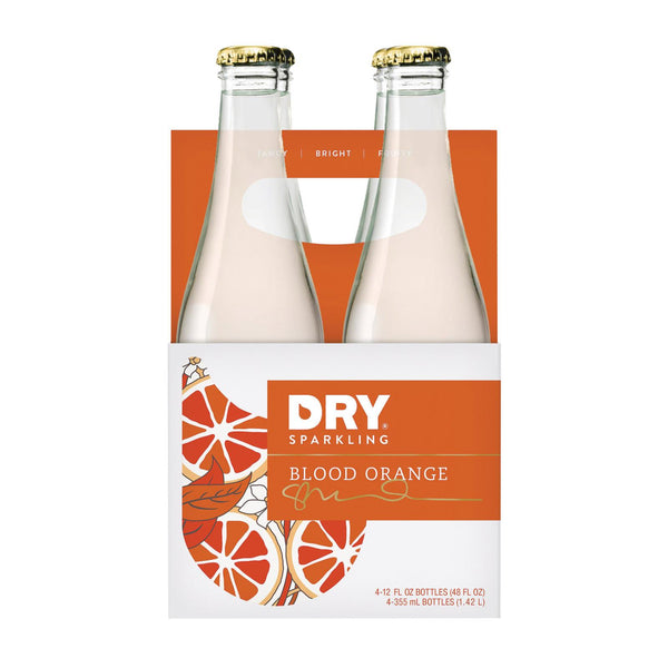 Dry Soda - Blood Orange - Case Of 6 - 12 Fl Oz.