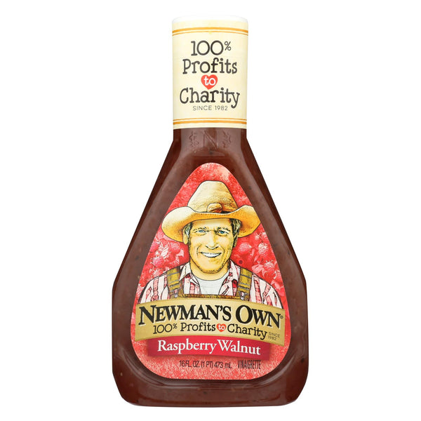 Newman's Own Dressing - Light Raspberry Walnut - Case Of 6 - 16 Fl Oz