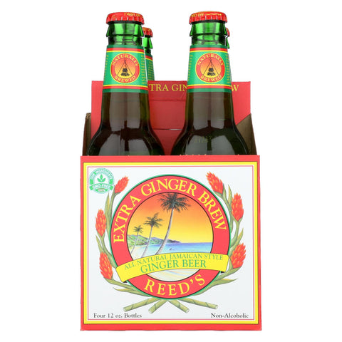 Reed's Ginger Beer Ginger Brew - Extra - Case Of 6 - 12 Fl Oz.