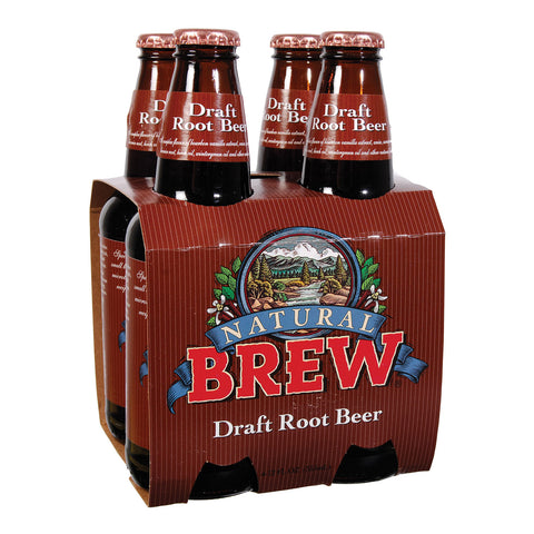 Natural Brew Soda Draft Root Beer - Case Of 6 - 12 Fl Oz.