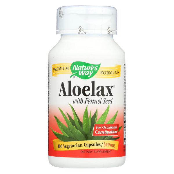 Nature's Way - Aloelax With Fennel Seed - 100 Vegetarian Capsules