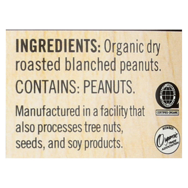 Woodstock Organic Peanut Butter - Crunchy - Unsalted - 16 Oz.