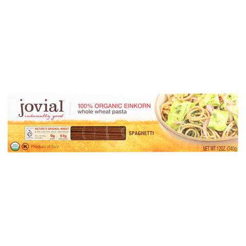 Jovial - Pasta - Organic - Whole Grain Einkorn - Spaghetti - 12 Oz - Case Of 12