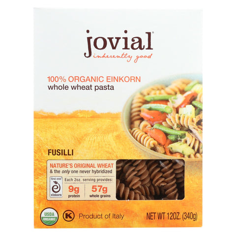Jovial - Pasta - Organic - Whole Grain Einkorn - Fusilli - 12 Oz - Case Of 12