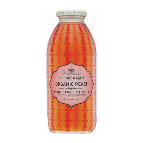 Harney And Sons Harney And Sons Organic Peach Tea - Iced Tea - Case Of 12 - 16 Fl Oz.