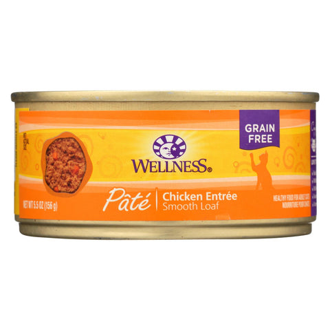 Wellness Pet Products Cat Food - Chicken Recipe - Case Of 24 - 5.5 Oz.