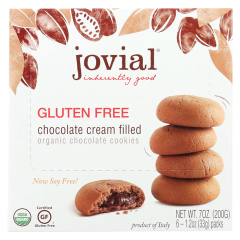 Jovial - Cookies - Organic - Chocolate Cream - Gluten Free - 7 Oz - Case Of 10