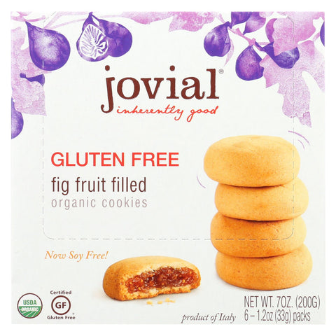 Jovial - Cookie - Organic - Fig Fruit Filled - Gluten Free - 7 Oz - Case Of 10