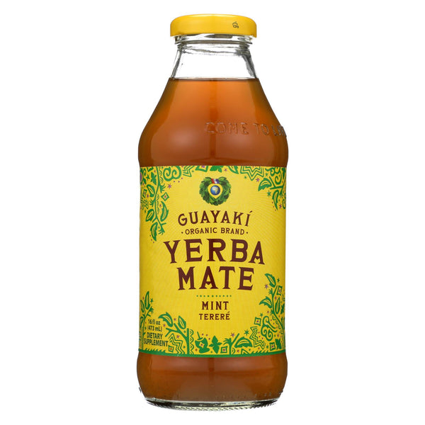 Guayaki Organic Mint Energy Drink - Case Of 12 - 16 Fl Oz