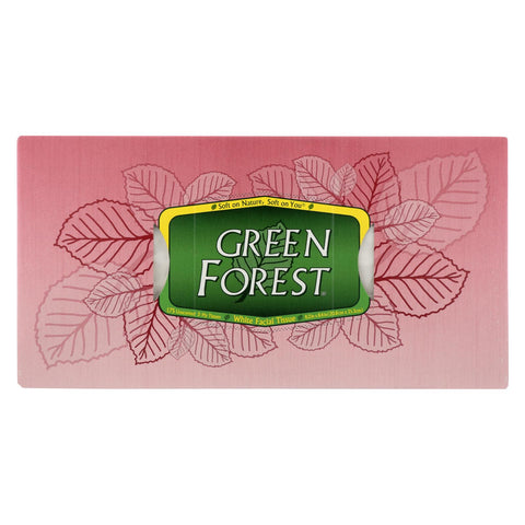 Green Forest Facial Tissues - White - Case Of 24 - 175 Count