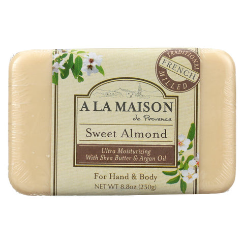 A La Maison - Bar Soap - Sweet Almond - 8.8 Oz