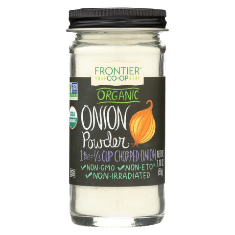 Frontier Herb Onion - Powder - Organic - White - 2.10 Oz