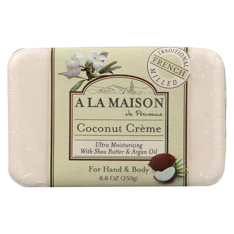 A La Maison - Bar Soap - Coconut Creme - 8.8 Oz