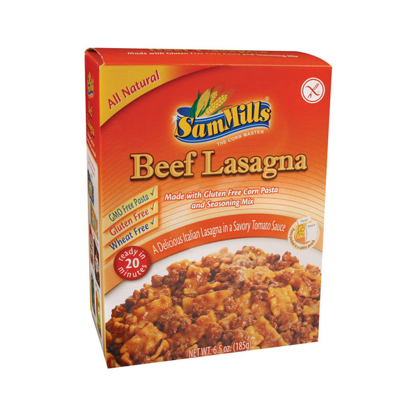 Sam Mills Dinner Kits - Lasagna Beef - Case Of 6 - 6.5 Oz.