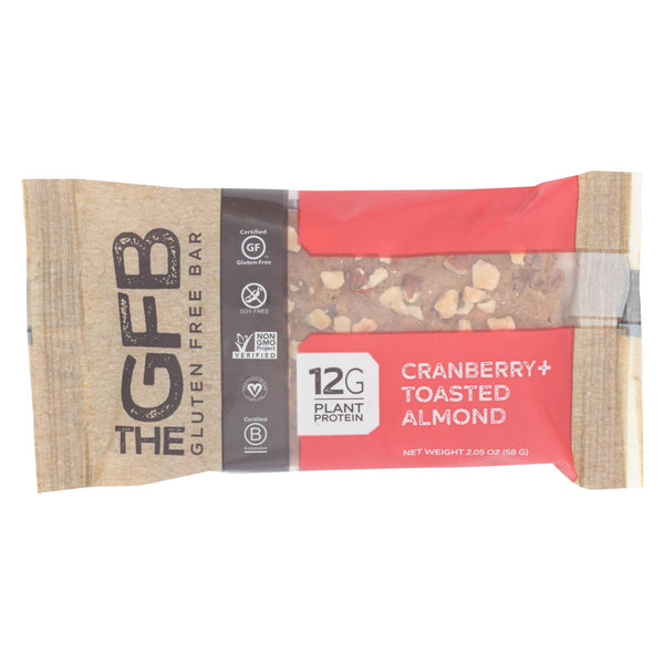 The Gluten Freeb Bar - Cranberry Toasted Almond - Gluten Free - Case Of 12 - 2.05 Oz