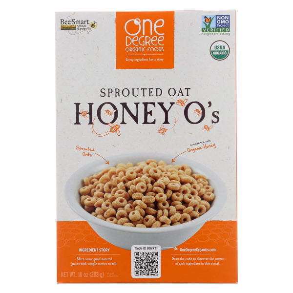One Degree Organic Foods Cereal - Sprouted Oat Honey O's - Case Of 6 - 10 Oz.
