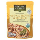 Seeds Of Change Organic Quinoa Brown And Red Rice With Flaxseed - Case Of 12 - 8.5 Oz