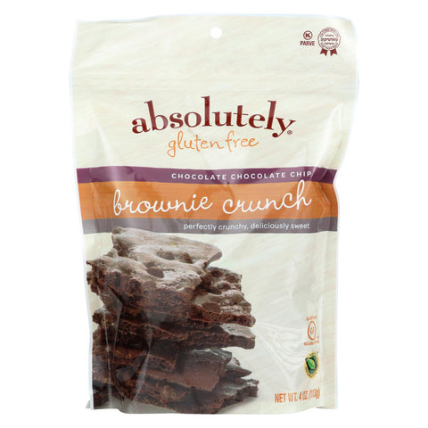 Absolutely Gluten Free - Brownie Crunch - Chocolate Chip - Case Of 6 - 4 Oz.