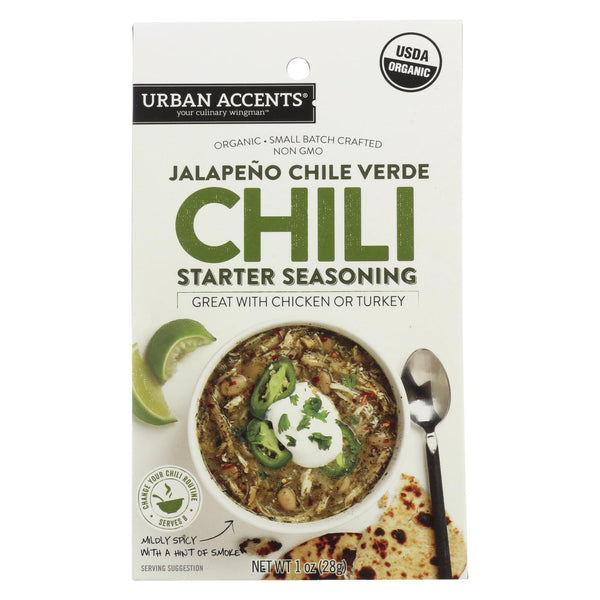 Urban Accents Spice - Chili Starter Seasoning - Jalapeno Chili Verde - Case Of 6 - 1 Oz