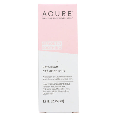 Acure - Sensitive Facial Cream - Argan Oil And Sunflower Amino Acids - 1.75 Fl Oz.