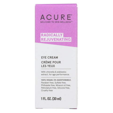 Acure - Eye Cream - Chlorella And Edelweiss Stem Cell - 1 Fl Oz.