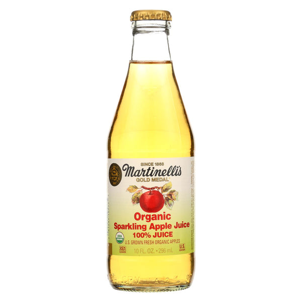 Martinelli's Jucie - Organic - Apple - Sparkling - Case Of 12 - 10 Oz