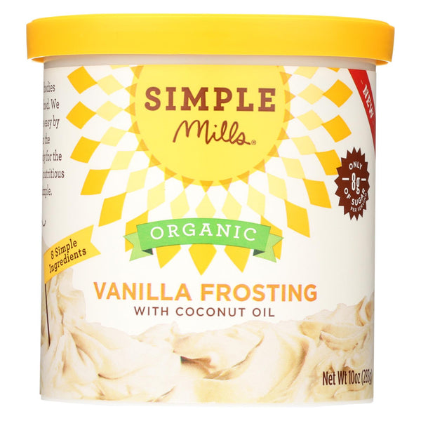 Simple Mills Organic Frosting -vanilla - Case Of 6 - 10 Oz
