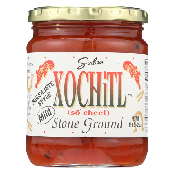 Xochitl Salsa - Stone Ground - Mild - Case Of 6 - 15 Oz
