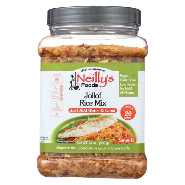 Neilly's Mix - Jollof Rice - Spicy Rice - Case Of 6 - 24 Oz