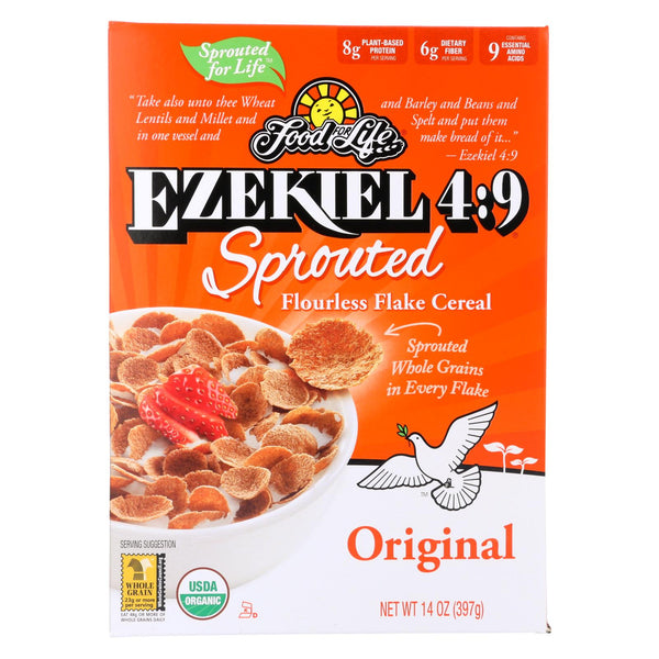 Food For Life Organic Flake Cereal - Ezekiel 4:9 Original - Case Of 6 - 14 Oz