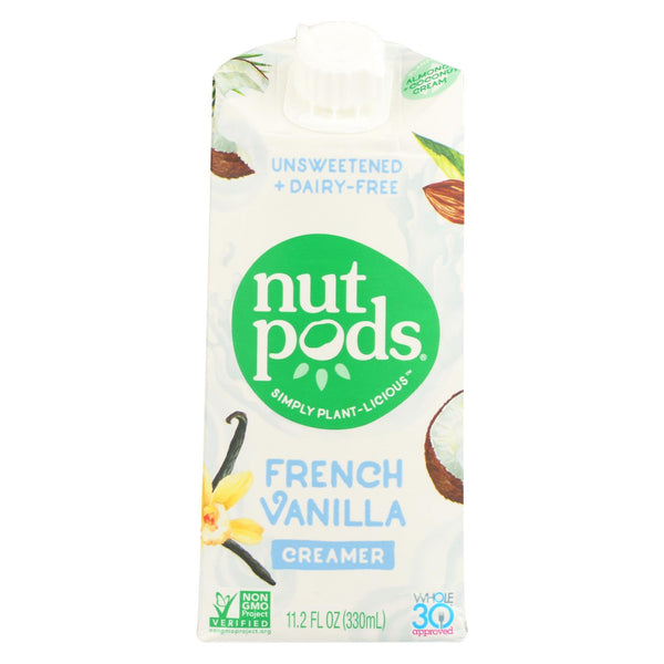 Nutpods - Non-dairy Creamer French Vanilla Unsweetened - Case Of 12 - 11.2 Fl Oz.
