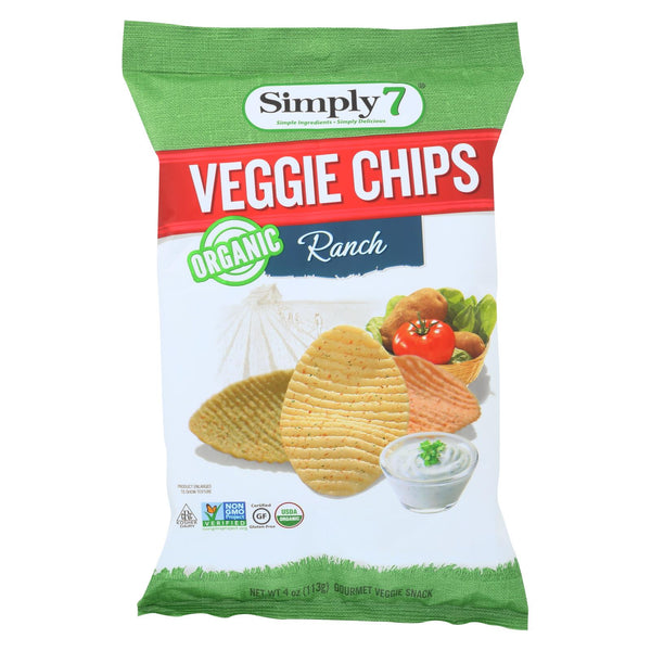 Simply7 Organic Chips - Veggie Ranch - Case Of 12 - 4 Oz