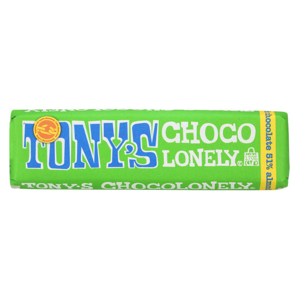 Tony's Chocolonely Bar - Dark Almond Sea Salt - Case Of 35 - 1.7 Oz.