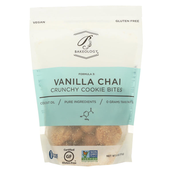 Bakeology Cookie Bites - Vanilla Chai - Case Of 12 - 6 Oz.