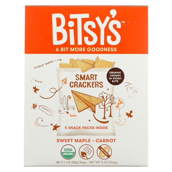 Bitsys Brainfood Crackers - Maple Carrot Crisp - Case Of 6 - 5-1 Oz.