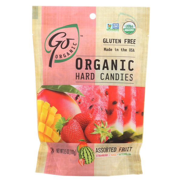 Go Organic Hard Candies - Assorted Fruit - Case Of 6 - 3.5 Oz.