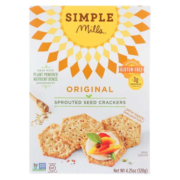 Simple Mills Sprouted Seed Crackers - Original - Case Of 6 - 4.25 Oz