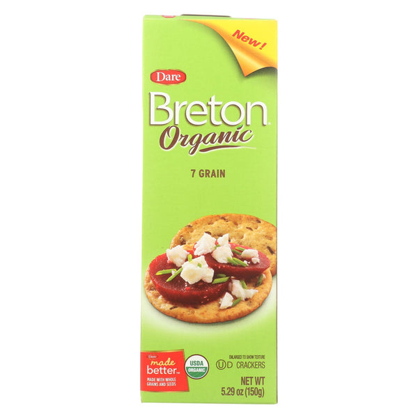 Breton-dare - Cracker - Organic 7 Grain - Case Of 6 - 5.29 Oz.