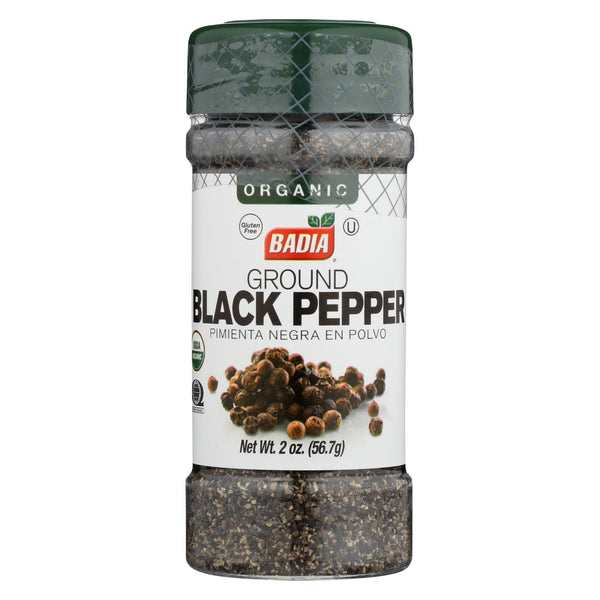 Badia Spices - Organic Ground Black Pepper - Case Of 12 - 2 Oz.
