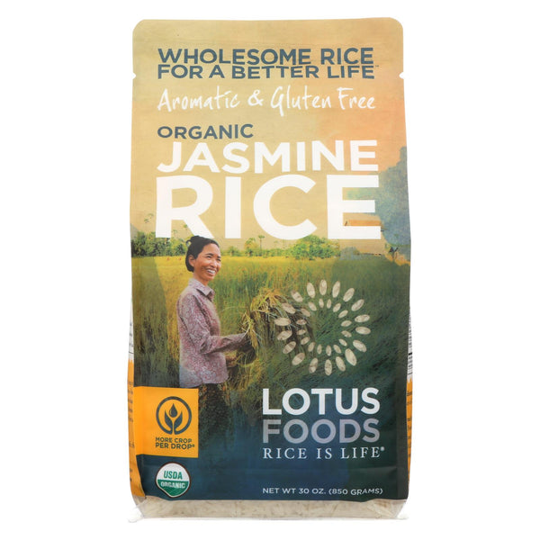 Lotus Foods Organic - Rice - White - Jasmine - Case Of 6 - 30 Oz