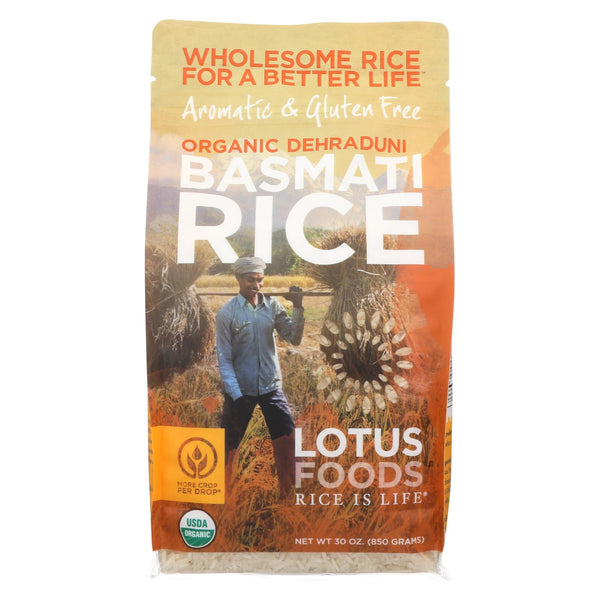 Lotus Foods Organic Rice - Jasmine - Case Of 6 - 30 Oz