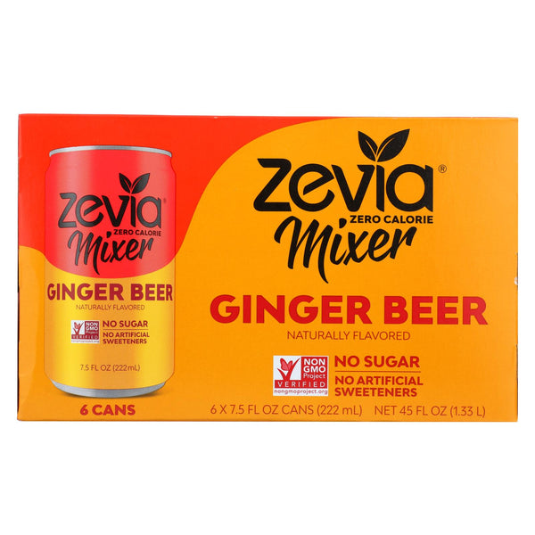 Zevia Zero Calorie Mixer - Ginger Beer - Case Of 4 - 6-7.5 Fl Oz