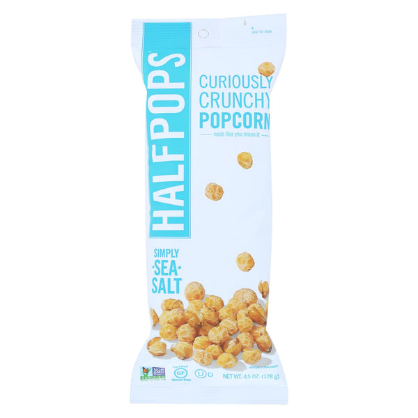Halfpops Popcorn - Simply Sea Salt - Case Of 12 - 4.5 Oz