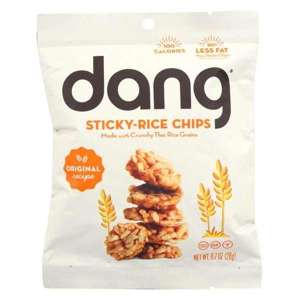 Dang - Sticky Rice Chips - Original Recipe - Case Of 24 - .7 Oz.