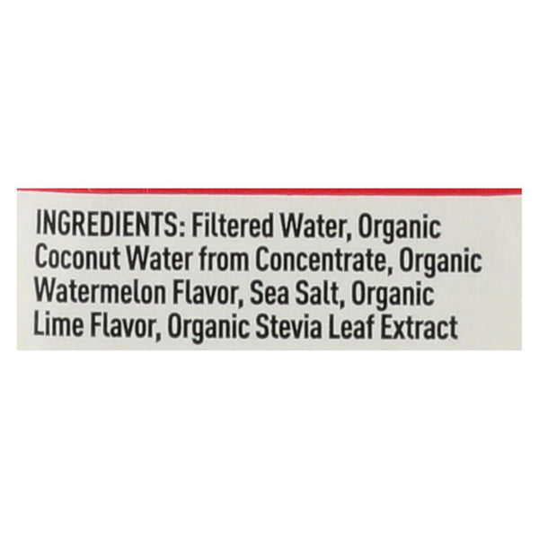 Nooma Electrolite Drink - Organic - Watermelon Lime - Case Of 12 - 16.9 Fl Oz