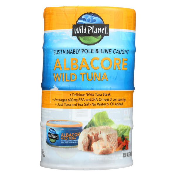 Wild Planet Wild Tuna - Albacore 4 Pack - Case Of 12 - 4-5 Oz
